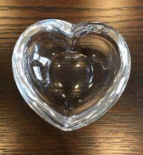 Orrefors Sweden Art Glass Amour Heart Shaped Crystal Bowl