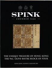 Hong Kong, el 96c. Oliva Bistre bloque de cuatro, subasta catálogo 2011