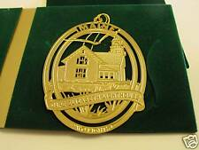 Cape Elizabeth Lighthouse gold plated ornament