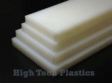 "1"" x 12"" x 24"" Natural Color HDPE Plastic Sheet Polyethylene Panel FDA NSF"