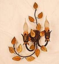 APPLIQUE LAMPADA LED RUGGINE ORO ART.132 ANTICO BAROCCO FERRA BATTUTO WALL LIGHT