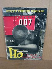 RIVAROSSI CATALOGO ORIGINALE 1956 HO H0 1/87 BROCHURE PROMO