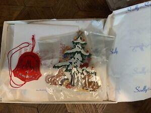 """WILHELM SCHWEIZER GERMAN ZINNFIGUREN Christmas Tree/Animals (2"""" x 2.75"""" High)"""