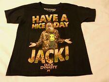 Boys Tee Shirt Sz XS 4/5 Duck Dynasty Black Have A Nice Day Jack