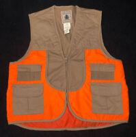 Mens NORTHWEST TERRITORY Upland Game Blaze Orange & Khaki Hunting Vest! Size: Lg