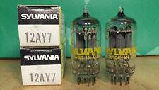 Pair of Sylvania 12AY7 NOS NIB Vacuum Tubes - 6% matched