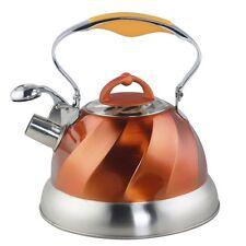 Riwendell Stainless Steel Whistling Tea Kettle 2.6-Quart Stove Teapot Copper NEW