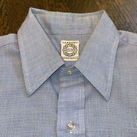 Vtg 50s 60s ARROW Dress Shirt Decton Broadcloth Perma Iron Midcentury Mens 15 32