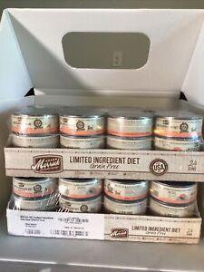 2 - Merrick Limited Ingredient Diet Grain-Free Real Salmon ,5oz 24Ct BB: 9/26/21
