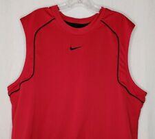 Nike Mens Sz Xl Reversible Basketball Jersey Shirt Red Black Sleeveless Mesh Euc