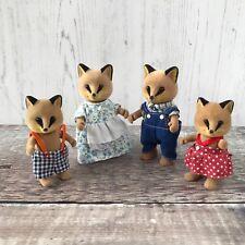 Sylvanian Families Renard Fox Family Figures Retired Flair Issue RARE