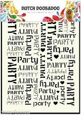 A5 Dutch Doobadoo Mask - Party - Stencil - Embossing - 039 - New