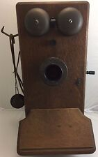 Vintage Western Electric Phone Push to Talk 317-AW Oak Telephone