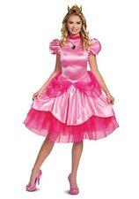 Disguise Women's Super Mario Deluxe Princess Peach Costume Pink Size 4.0 Bak5