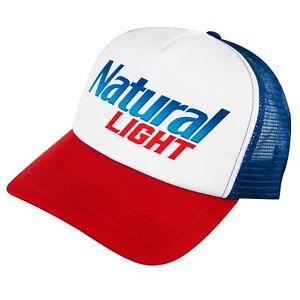 Natural Light Men's Trucker Hat White
