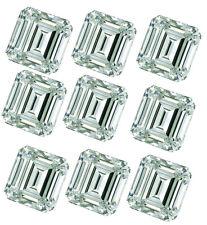 Emerald Moissanite Diamond 4 Ring 5.60ct Vvs1/9pc-(0.40-0.80ct)Blu e White Loose