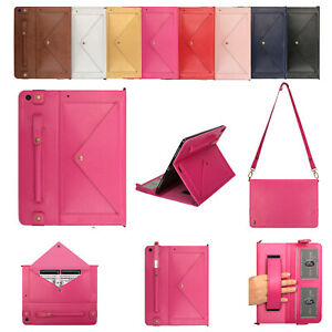 For iPad Pro 10.2/Mini 4 5/Air 1 2/Pro 11 Leather Envelope Stand Card Smart Case