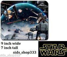 STAR WARS BATTLE SPACE AT AT Anti slip COMPUTER MOUSE PAD 9 X 7inch Rogue One