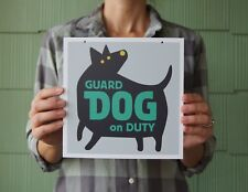 """Beware of Guard Dog Sign, 8"""" x 8"""", for Interior/Window"""