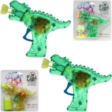 """2x Seifenblasenpistole """"Dino-Gun"""" mit Lichteffekt inkl. Seifenblasenflüssigkeit!"""
