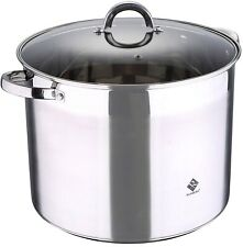 Renberg 20 Litre 18/10 Stainless Steel EXTRA LARGE Stock Pot With Lid Induction