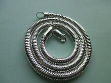UK Gioielli (16 pollici x 5 mm) Argento Sterling 925 Collana Serpente Catena penadant