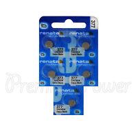 5 x Renata 377 Silver oxide batteries 1.55V SR626SW SR66 376 Watch 0% Mercury