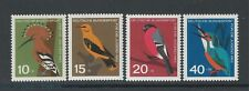 Germany / Alemania 1963, Birds Child Welfare SG # 1315-8 Yv 273-76, Full set MNH