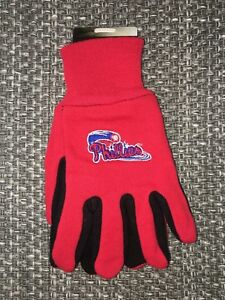 Philadelphia Phillies MLB Two Tone Youth Size Gloves [NEW] Very comfortable