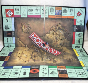 2003 LORD OF THE RINGS MONOPOLY ORIGINAL PARTS: PLAYERS GAME BOARD/ PRE OWNED