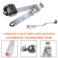Universal Telescopic Gray Heavy Duty Nylon 3 Point Lock Safety Harness Seat Belt