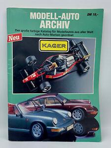Kager Modellauto Archiv Katalog 1990er Jahre 132 Seiten guter Zustand