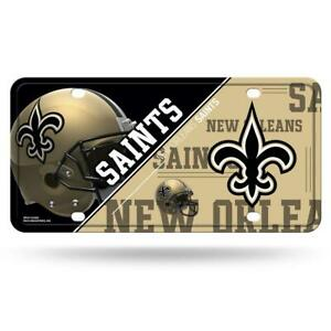 New Orleans Saints Metal License Plate [NEW] NFL Tag Auto Truck Car Cover Frame
