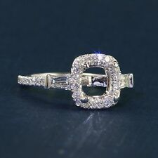 Gabriel & Co Baguette Accented Halo Ring - Contemporary Collection  ER9193w44JJ