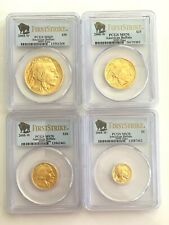 2008-W  American Gold Buffalo 4 Coin Set PCGS MS70 First Strike