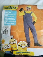 New Rubies Minions Dave Child Costume Despicable Large 12-14 Halloween Complete