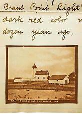 1895 Signed Letter - NANTUCKET ISLAND REVIVAL - Rare Original HENRY WYER Photos