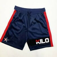 New 100% AUTHENTIC Hudson Outerwear mens basket ball shorts navy/red/white large