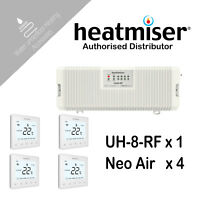 Heatmiser UH8 RF 4 NeoAir 8 Zone Wireless Wiring Centre Water Underfloor Heating
