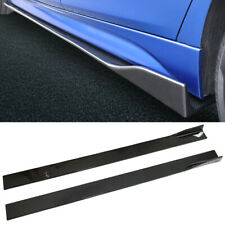 6Pcs 2.2M/86.6'' ABS Carbon Fiber Look Side Skirts Extension Splitters Universal
