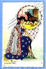 Embroidered Fandango Dancer, Escape from the Bull Pen, Artist Signed, Gunier