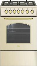 Beko Cucina a Gas 4 Fuochi Forno Elettrico Grill 50x60 cm Coperchio CSS52125DCR