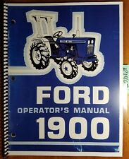 Ford 1900 Tractor 1979-83 Owner's Operator's Manual SE3753A 42190011