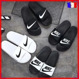 Unisex Nike Flip Flops Chaussons Mer Plage Sandales Sliders Blanc Noir EU 40-44