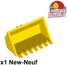 Lego - 1x vehicle voiture godet Digger Bucket 7 Tee. 3x6 jaune/yellow 30394 NEUF