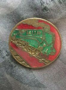 enamel railway badge nur national union of railwaymen