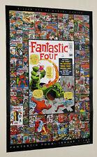 Kirby Marvel Fantastic Four poster:Spiderman/Silver Surfer/Thor/Hulk/Marvelmania