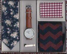 Sprezzabox (Macy's) Mens Gift Set. Watch / Tie / Tie-Bar / Socks / Pocket Square