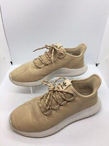 Adidas Tubular Shadow Trainers - Nude / Beige Leather Shoes - Size UK 6