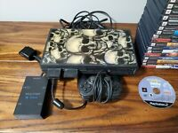 Sony Playstation 2 PS2 console. Controller, 2 memory cards, 20+ games, multitap